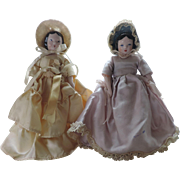 "2 Sweet 7"" Ruth Gibbs China Dolls - Bride and Bridesmaid - Bride is Tagged !"
