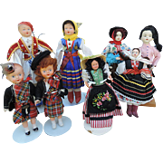 Lot of 8 Regional Dolls