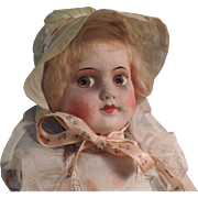 Sweet 1930's Cloth Doll with Composition Head, Original
