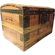 Paper Covered Trunk, Brantford Starch Co.