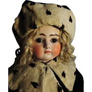 Antique Kestner, Bisque, Closed Mouth , Turned Head
