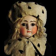 Antique Kestner, Bisque, Closed Mouth , Turned Head