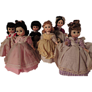 "Complete Set of 8"" Madame Alexander Little Women - 5 Girls and Laurie"