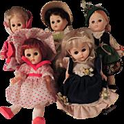 (5) 1970's Vinyl Ginny Dolls