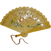 Vintage Hand-painted Celluloid Fan for Doll