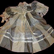 Vintage High Waisted Dress for Toddler or Child Doll