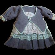 Vintage Lilac and Mauve Two-Pc Drop Waist Dress, Jacket