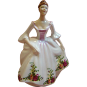 Fine Bone China Royal Doulton Lady Figurine Country Rose