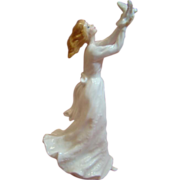 Fine Bone China Royal Doulton Young Lady Thinking of You