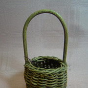 Antique Small Handled Woven Basket for French Fashion