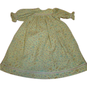 Vintage Cotton Doll Dress for German Bisque Dolls