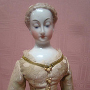 17 In. Antique Nymphenburg China Shoulder Head Lady