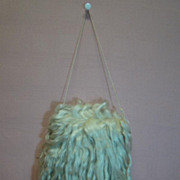 Antique Long Mohair Child's or Doll's Hand Muff, Beautiful