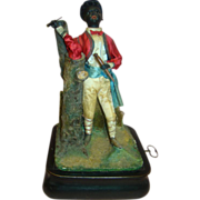 Original and Rare Antique French Black Man Smoker Automaton by Bru