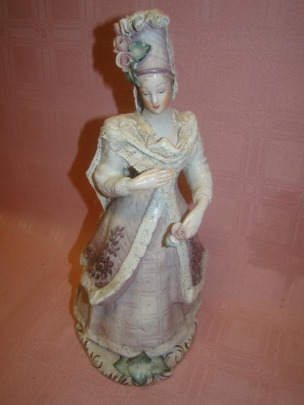 13 3 4 In French Antique Very Beautiful Corday Porcelain