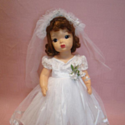 Minty Terri Lee Bride Doll, Tagged and Crisp Clothing
