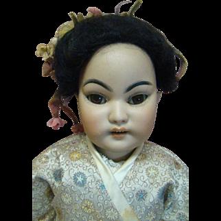 16-1/2 In. Rare Slant Eyes Oriental Mold #1199 by Simon Halbig, Germany