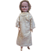 15 In. Double-Faced Bartenstein Doll, Paper Mache, Original with Cryer