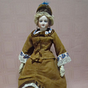 17.5 In. Smiling Bru French Fashion, Original Body, Mohair Wig, Cork Pate, Boots