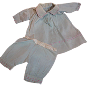 Darling Two Piece Dress and Matching Bloomers 1920's Bisque Doll or 30's Toddler