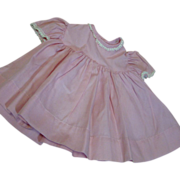 Vintage Factory Pink High Waist Yoke Style Dress with Gathered Skirt