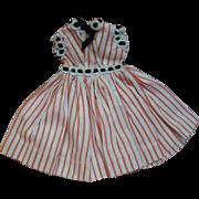 "Original Crispy Factory Dress Tagged ""Vogue Doll"" for Hard Plastic Jill 1957"
