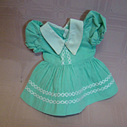 Cute Factory Dress for Compo or Hard Plastic 1930's - 50's Era