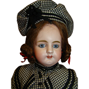 20.5 In. German Simon Halbig Mold #979, Rare Doll, Unusual Facial Expression, Gorgeous Blue Eyes