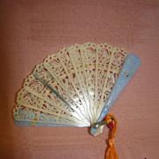 Vintage Miniature Doll Size Very Ornate Fan