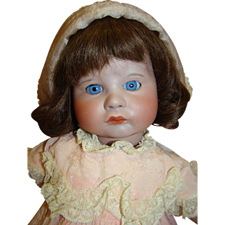 19.5 In. French SFBJ Mold 252 Pouty, Blue Sleep Eyes, Fully Jointed Toddler Body, Comes with Extra 4 Dresses and Pajamas