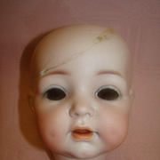 13 In. Circumference K*R Head for a Character Doll Mold #121, Beautiful Bisque with Damage Not Affecting Features