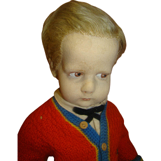 "16.5 In. Lenci Felt Doll from Italy, ""The Sweater Boy"" from the 300 Series, Original and in Great Condition"