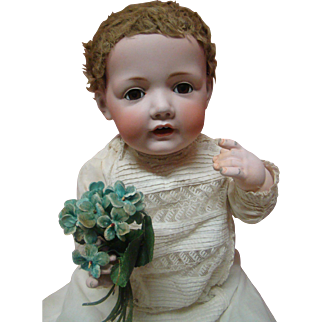 """Kestner's """"Hilda Baby"""" at Her Best!  23.5 Inches of Bubbly Perfection in Mold #237, Original """"Pink"""" Patina 5-Pc Baby Body"""