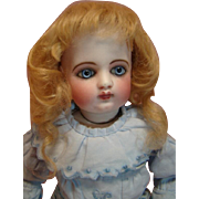 Breathtaking Earliest F.G. Bebe with Pale Blue Paperweight Eyes, Closed Mouth, Original Leather Body - Estate Doll!
