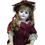 Large 22.5 In. Simon & Halbig Closed Mouth #719, Original Clothes, Body and Shoes!  Knockout Estate Doll