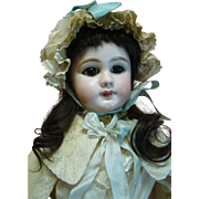 "27"" DEP JUMEAU Closed Mouth Bebe, Original Body, Antique Clothes, Shoes; Estate Doll"