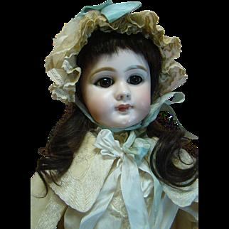 "27"" DEP JUMEAU Closed Mouth Bebe, Original Body, Antique Clothes, Shoes; Estate Doll"
