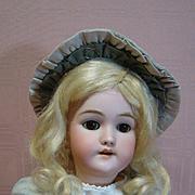 Beautiful 19 In. Brown Eyed Blonde German Heinrich Handwerck Mold #119, Nicely Dressed, Priced to Sell