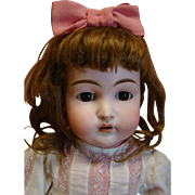 Estate Doll!  22.5 Inch K Star R Mold #192 Desirable and Beautiful!  Original 1890's Mama Made Clothing, Factory Wig, Shoes, Socks