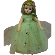 MIB Madame Alexander Elise in Mint Green Ball Gown, Complete and Crispy Fresh Estate Doll; 1957