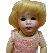 9-1/2 Inch Unheard of Wee Size of the SFBJ Mold #247 Known as Twirp, Original Fully Jointed Slant Hip Toddler Body, Blue Sleep Eyes!