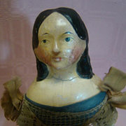 9-1/2 Inch Head to Toe Original Milliners' Model Unretouched, Paper Mache, Excellent Condition