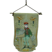 Unique Wall Hanging Using a German Bisque Doll Head of a Boy, Imagination and Artistic Talent - Circa:  Early 1900's