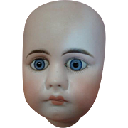French Look Belton Head (Only) to Make a 17-19 Inch Belton Doll; Perfect and Beautiful with Blue Paperweight Eyes