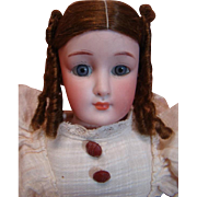 Largest Size Original 14-1/2 Inch Little Women Doll by Simon Halbig, Mold #1160, Seldom Seen Size!