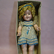 Beautiful Original 22 Inch Shirley Temple Doll by Ideal in Bottom of Box, Estate Doll, Never Undressed or Played With, ST Pin, Hang Tag