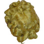 Original Tagged Mohair Shirley Temple Wig for 1930's Composition Doll, 9 Inch Head Circumference, Never Combed, Excellent Clean Condition