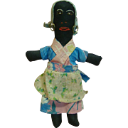 11.5 Inch Original Black Folk Art Doll, Circa 1920's or 30's