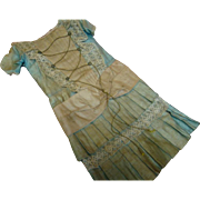Original Decorated Antique Cotton Factory Chemise in Good Stable Condition for a 17-18 In. Doll