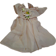 Tiny Pink Silk Vintage Dress for a Small Bisque Head Doll or an All Bisque Doll, French or German